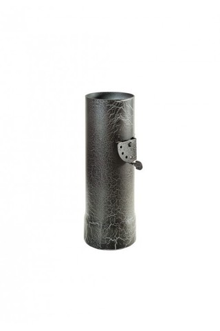 Дымоход стартовый  с шибером D115мм  L 0,3м