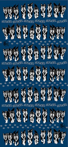 Многофункциональная бандана-труба Buff Huskies Blue