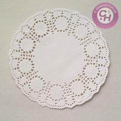 Салфетка бумажная ажурная для декора, круглая, 10 шт.