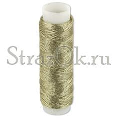 Закажите металлизированные нитки для пришивания страз светло-золотые