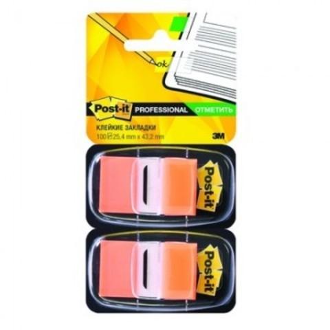 Клейкие закладки пласт. 1цв.по 100л. 25мм оранж Post-it ?680-OE2