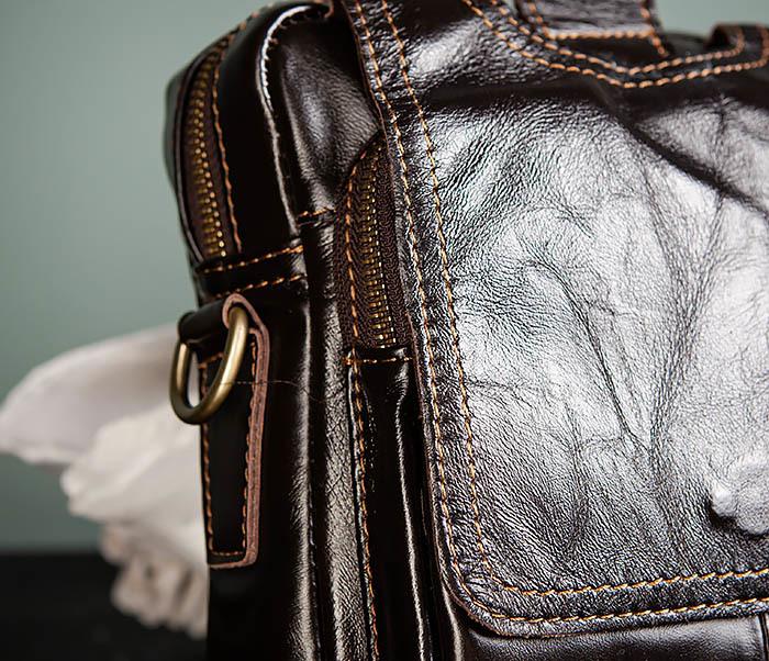 BAG495-1 Мужской деловой портфель из натуральной кожи фото 03