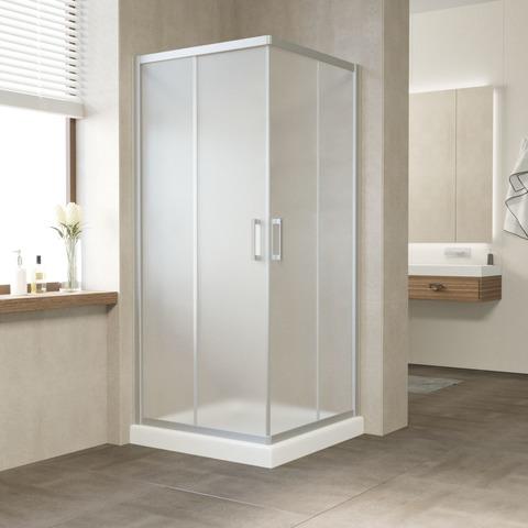 Душевой уголок Vegas Glass ZA профиль матовый хром, стекло сатин