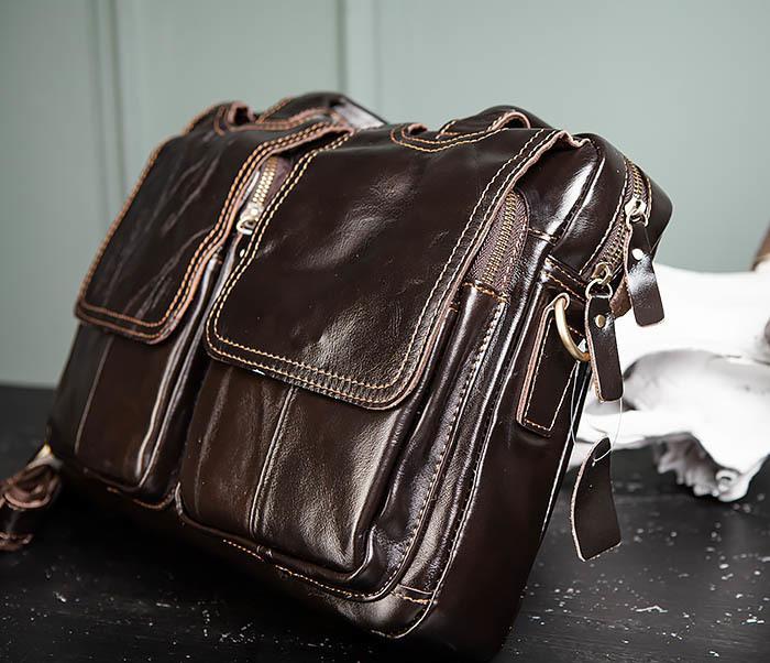 BAG495-1 Мужской деловой портфель из натуральной кожи фото 04