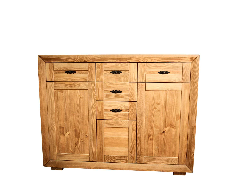 Шкаф-тумба 3-секции с ящиками и дверцами