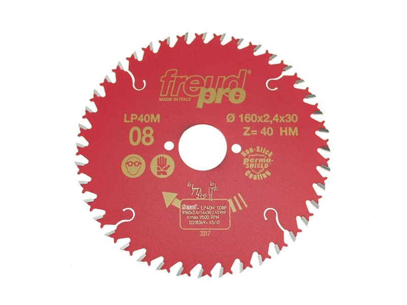 Диск пильный LP40M по дереву 160х30 мм, 40 зуб. FREUD PRO Freud LP40M008