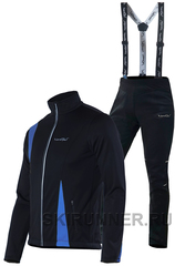 Утеплённый лыжный костюм Nordski Active Black-Blue Premium Black мужской