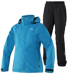 Женский ветрозащитный мембранный костюм 8848 Altitude Main Rainset Turquoise