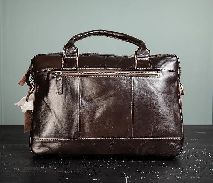 BAG495-1 Мужской деловой портфель из натуральной кожи фото 05