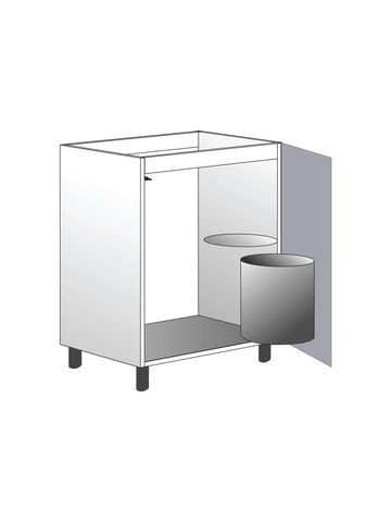 Напольный шкаф под мойку с системой утилизации, 720Х600 мм / PushToOpen