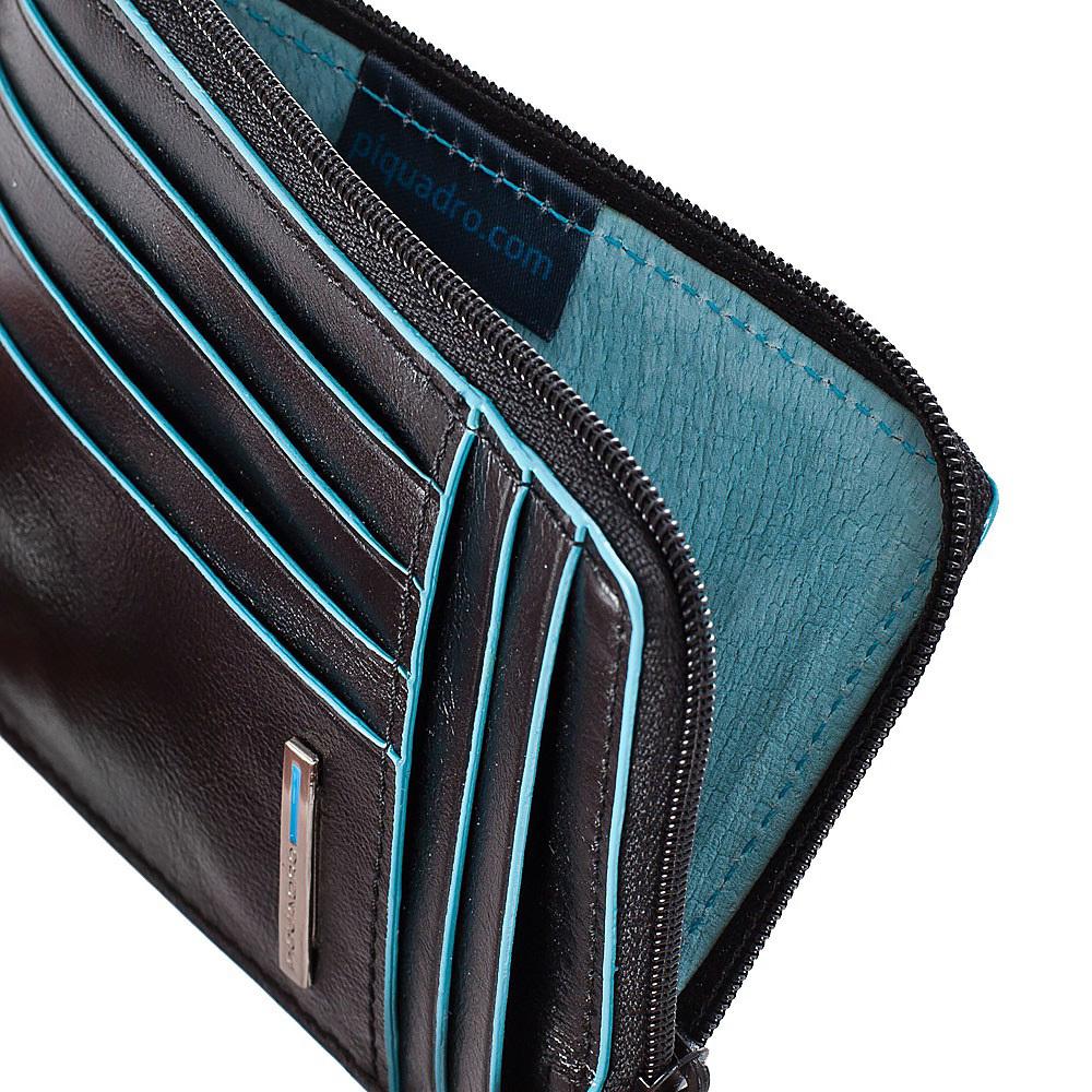 Чехол для кредитных карт Piquadro Blue Square, цвет черный 12,5x9x1 см (PU1243B2/N)