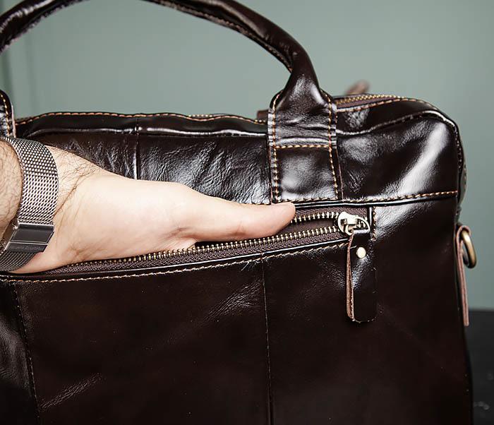 BAG495-1 Мужской деловой портфель из натуральной кожи фото 06
