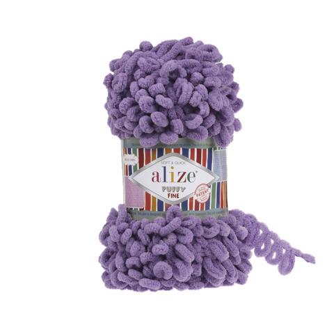 Купить Пряжа Ализе Пуффи Файн Код цвета 437 Орхидея | Интернет-магазин пряжи «Пряха»