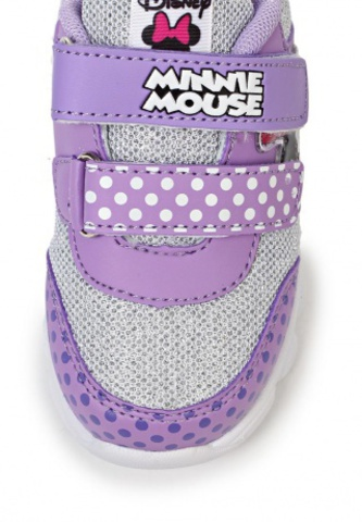 Кроссовки Минни Маус (Minnie Mouse) на липучках для девочек, цвет сиреневый. Изображение 7 из 8.