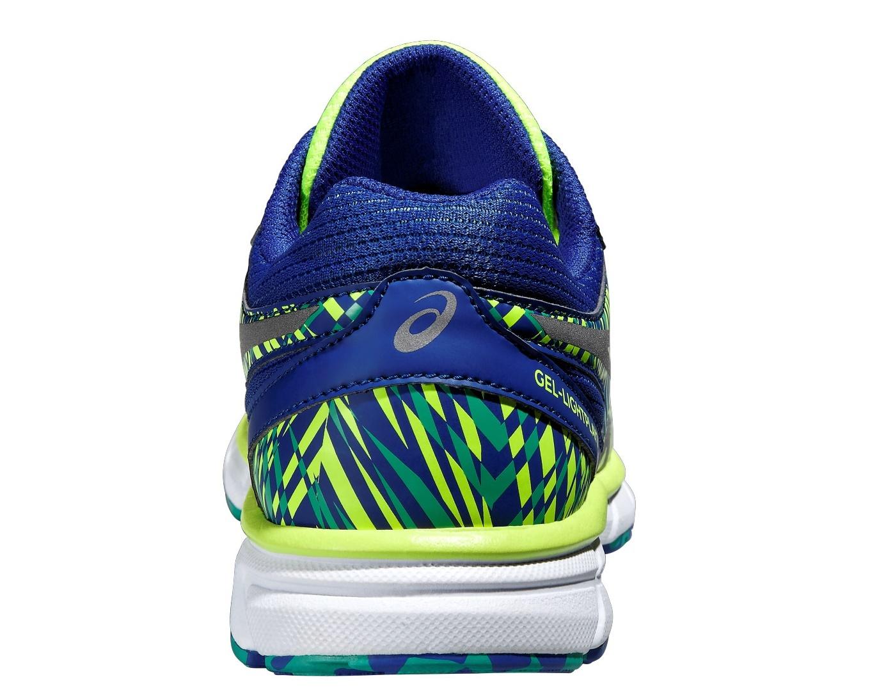 Детские беговые кроссовки Asics Gel-Lightplay 2 GS  (C572N 4393) синие фото пятка