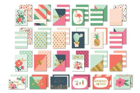 """Журнальные карточки для Project Life из коллекции """"On Trend 2"""" by MME 24шт"""