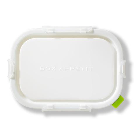 Ланч-бокс Rectangular малый, белый/ зеленый