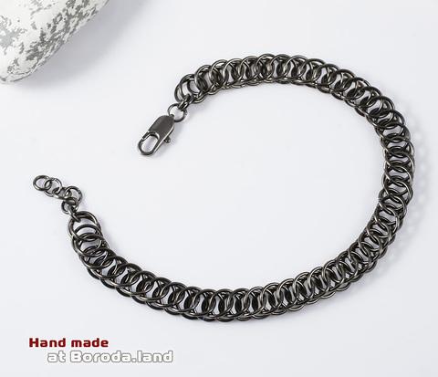 BM312.1 Стильный черный браслет