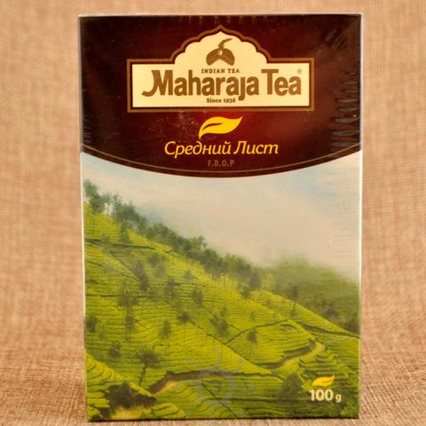 Чай ассам черный байховый средний лист Махараджа, 100г