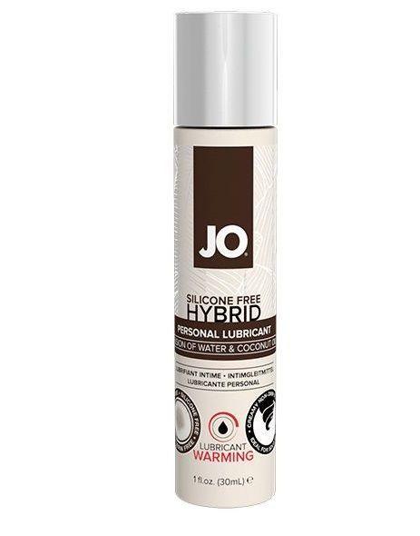 Возбуждающие: Водно-масляный лубрикант с разогревающим эффектом JO Silicone Free Hybrid Lubricant WARMING - 30 мл.