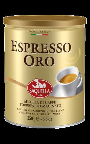 Кофе молотый Saquella Espresso Oro жестяная банка 250 г