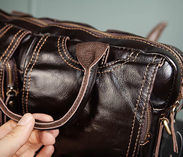 BAG495-1 Мужской деловой портфель из натуральной кожи фото 07