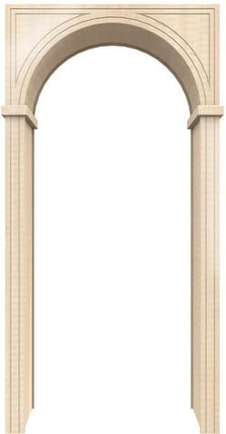 Арка универсал 450 ПВХ (беленый дуб), фабрика Европейские арки
