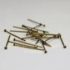 Комплект пинов - гвоздиков 20х0,7 мм (цвет - античная бронза), 10 гр (примерно 115 шт)