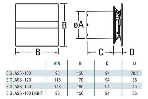 Вентилятор накладной Cata E 150 G
