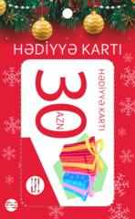 Hədiyyə kartı 30 AZN