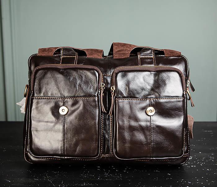 BAG495-1 Мужской деловой портфель из натуральной кожи фото 08