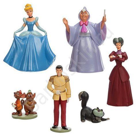 Игровой набор 6 фигурок из мультфильма Золушка - Figurine Playset Cinderella, Disney