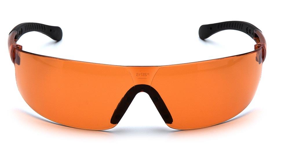 Очки стрелковые Pyramex Provoq S7240S оранжевые 51%