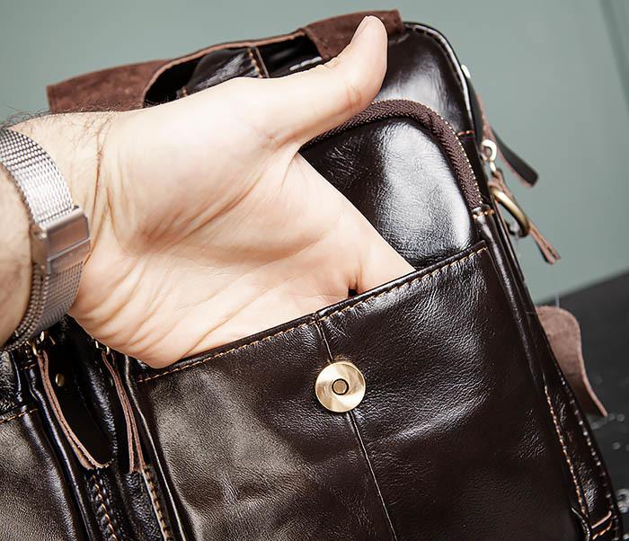 BAG495-1 Мужской деловой портфель из натуральной кожи фото 09