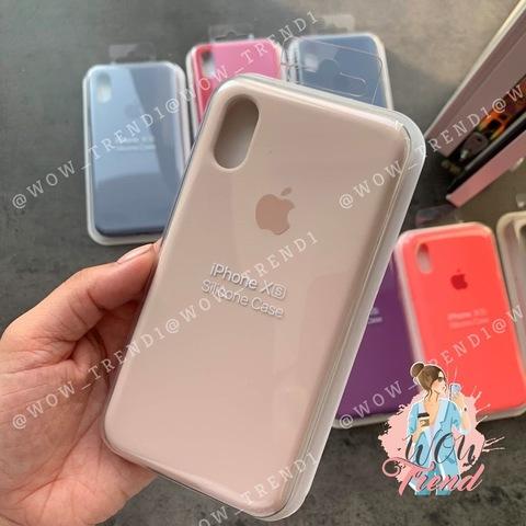 Чехол iPhone X/XS Silicone Case Full /pink sand/ розовый песок