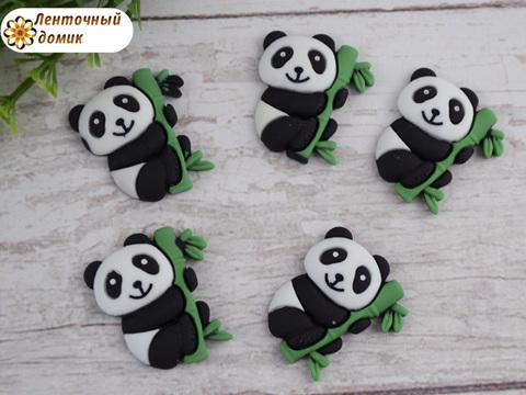 Пластиковый декор Панда на бамбуке