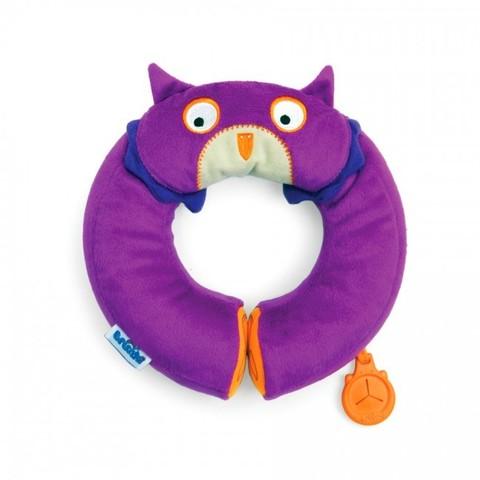 Подушка Подголовник для детей Yondi Сова, фиолетовый