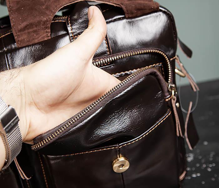 BAG495-1 Мужской деловой портфель из натуральной кожи фото 10