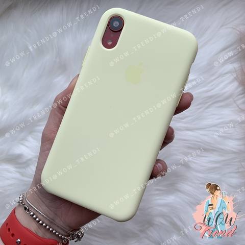 Чехол iPhone XR Silicone Case /mellow yellow/ волшебно-желтый original quality