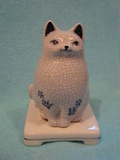 Ceramic Incense burner Cat
