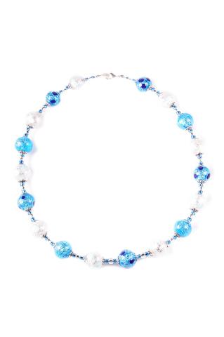 Ожерелье Белла серебристо-голубого цвета