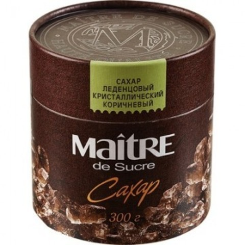Сахар Maitre de Sucre леденцовый коричневый,300г