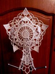 Звезда на елку новогодняя серебро