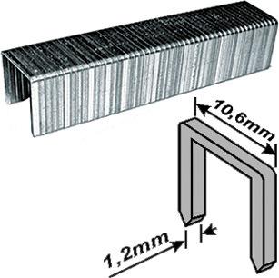 Скобы для степлера закалённые прямоугольные 10,6 мм х 1,2 мм (широкие тип 140) 12 мм, 500 шт. FIT 31212