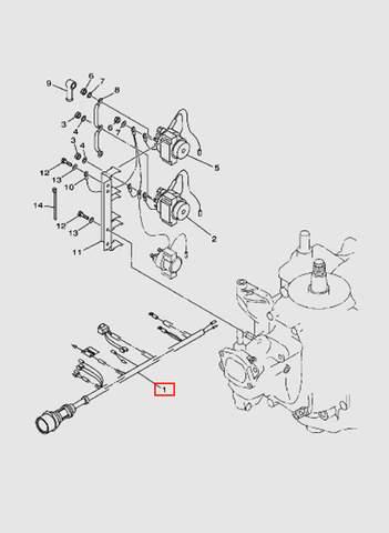 Жгут проводов в сборе  10 pin для лодочного мотора T40 Sea-PRO (11-1)