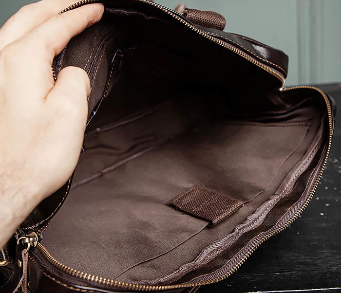 BAG495-1 Мужской деловой портфель из натуральной кожи фото 12