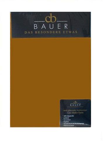 Простыня на резинке 180x200 Curt Bauer Mako Brokat Satin темное золото