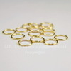 Комплект колечек одинарных 10х1 мм (цвет - золото), 20 гр (примерно 110 шт)