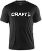 Футболка Craft Active Run Logo мужская черная