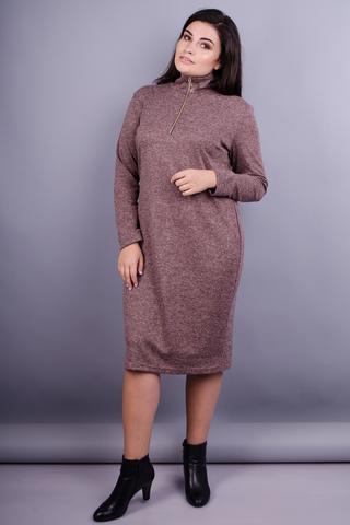 Максі. Жіноча сукня на кожен день великих розмірів. Шоколад.